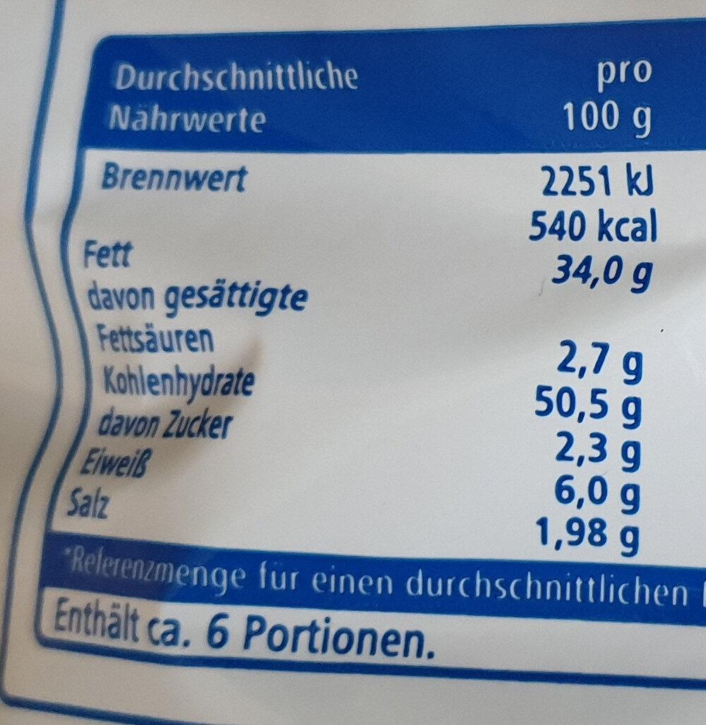 Kartoffelchips Paprika - Informations nutritionnelles - de