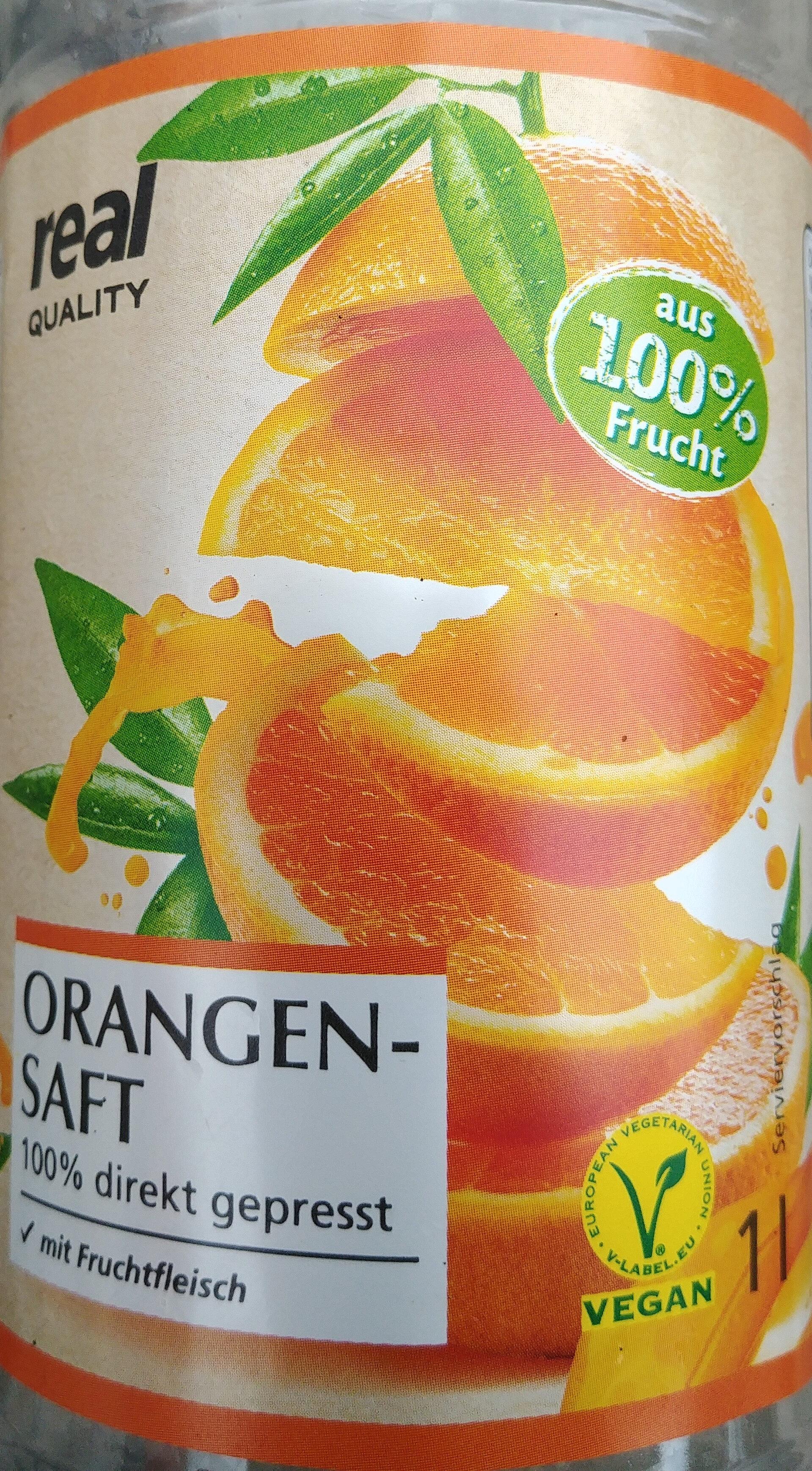 Orangensaft mit Fruchtfleisch direkt gepresst - Product