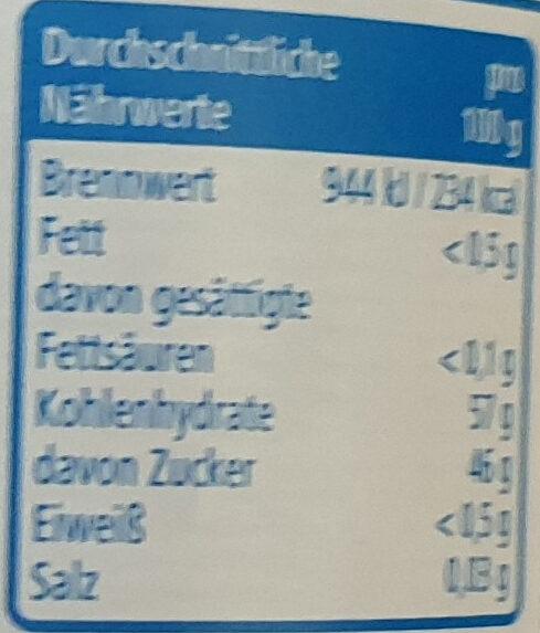 Erdbeer-Konfitüre Extra - Informations nutritionnelles - de