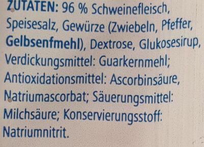 Schinkenzwiebelmettwurst - Ingrédients - de