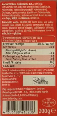 Prosciutto cotto - Ingredients - de