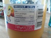 Hofgut Apfelmus - Ingrédients