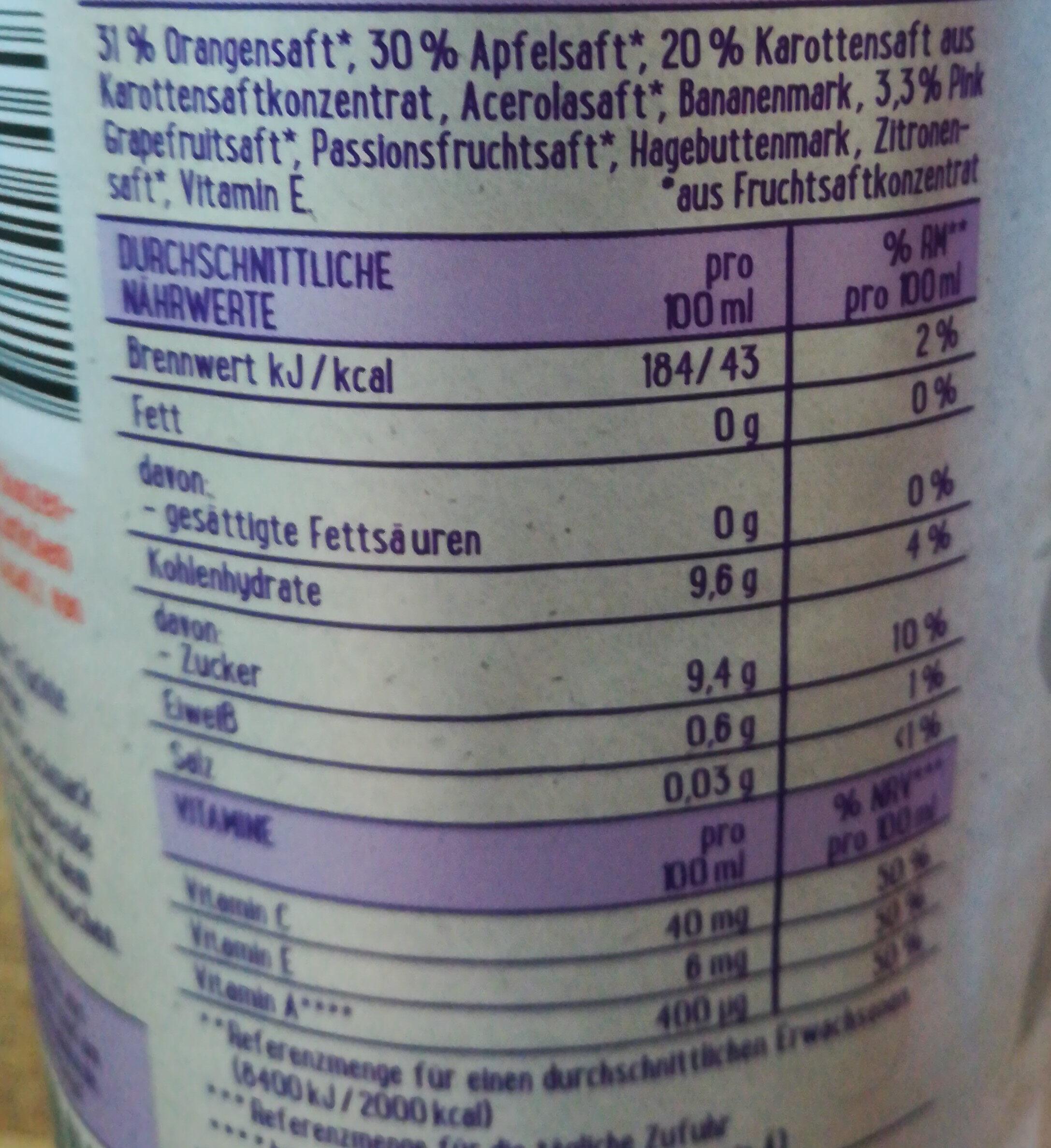 EDEKA Saft Liebe ACE - Nutrition facts - de