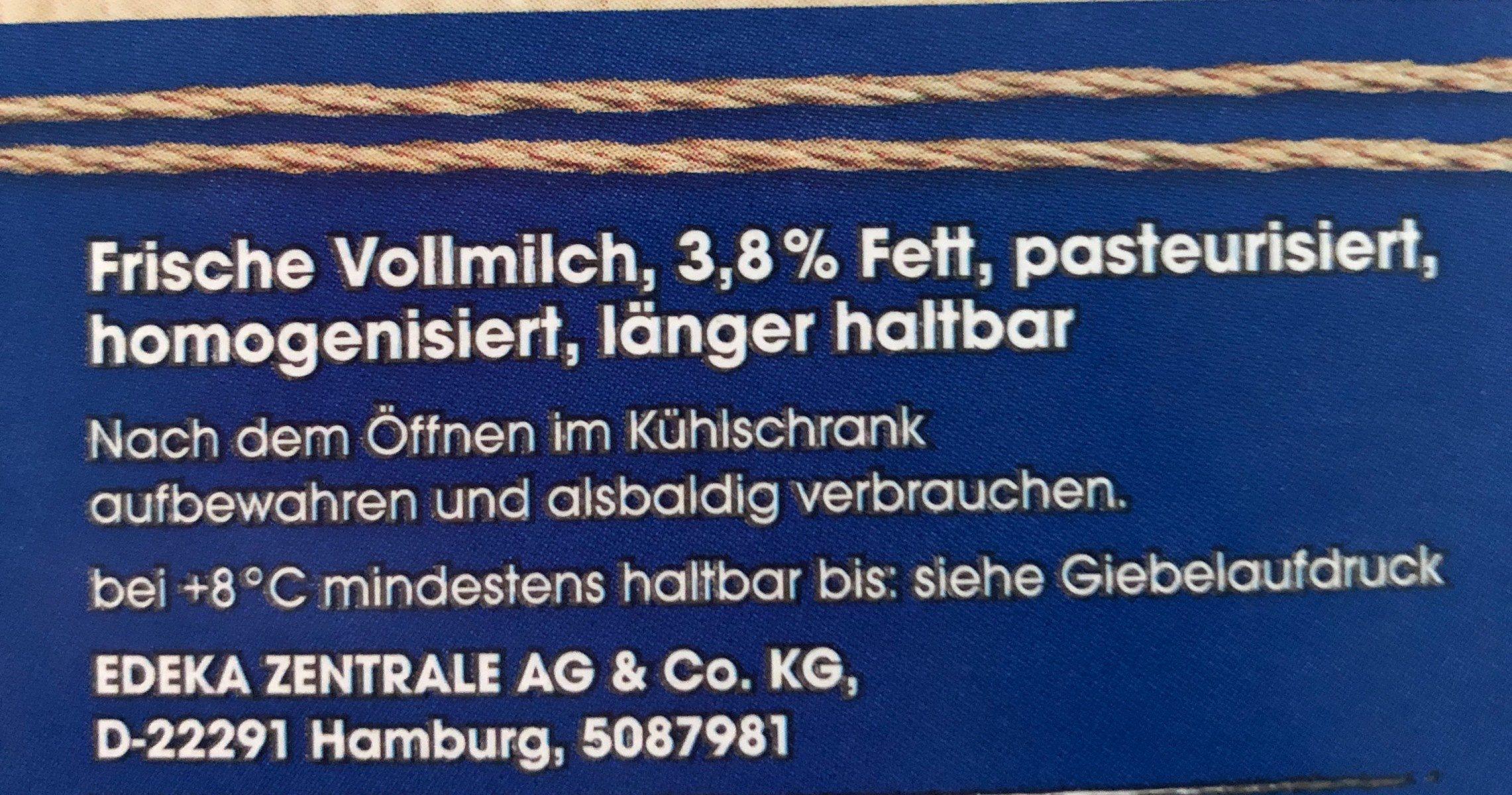 Frische Vollmilch - Ingredients - en