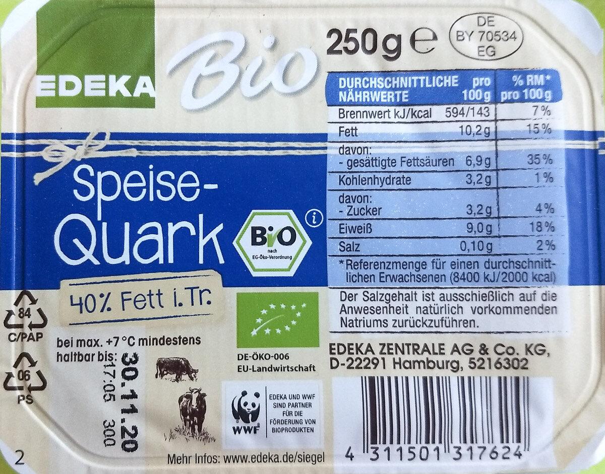 Speisequark 40% Fett i. Tr. - Prodotto - de