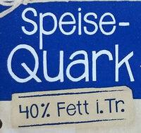 Speisequark 40% Fett i. Tr. - Ingredienti - de
