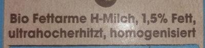 Fettarme H-Milch ultrahocherhitzt homogenisiert - Ingrediënten