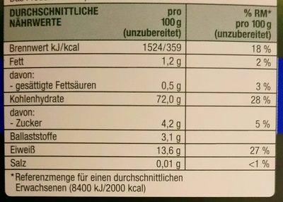 Cannelloni N.64 - Voedingswaarden
