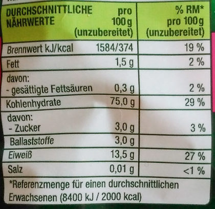 Maccaroni N.46 - Nutrition facts