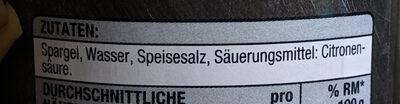 Spargel Abschnitte mit Köpfen - Ingredients