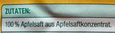 Milder Apfel - Ingredients