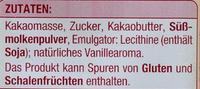 Couverture Zartbitter - Edeka - 200 G - Ingredienti - de