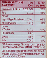 Couverture Zartbitter - Edeka - 200 G - Valori nutrizionali - de