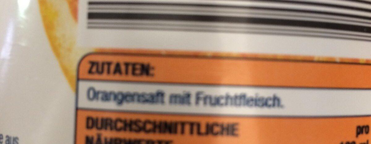 Premium Orange direkt gepresst - Ingrediënten