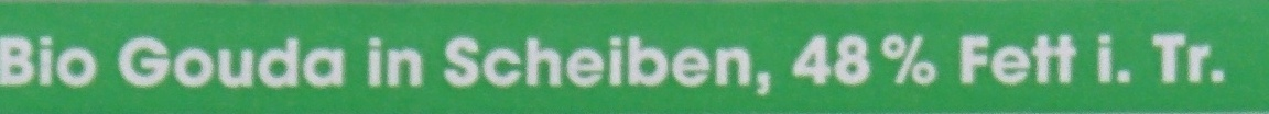 Gouda in Scheiben, 48% Fett i. Tr. - Ingrediënten - de