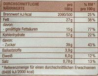 Double Chocolate Cookies - Nährwertangaben - de
