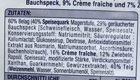 Elsässer Flammkuchen - Ingrédients - de