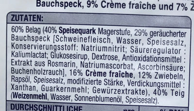 Elsässer Flammkuchen - Ingredients
