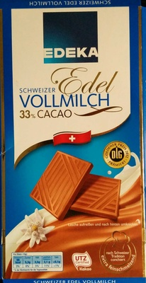 Schweizer Edel Vollmilch - Produit - de