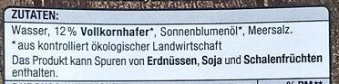Haferdrink Classic - Ingrédients - de
