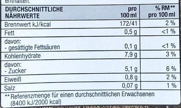 Haferdrink Classic - Informations nutritionnelles - de