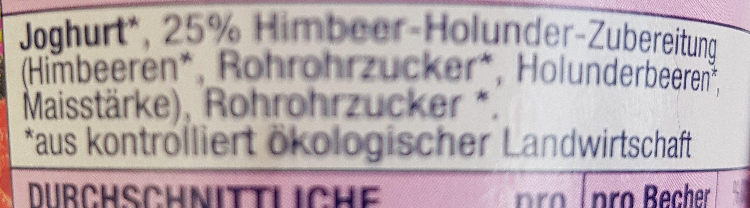 Himbeer holunder - Ingrédients