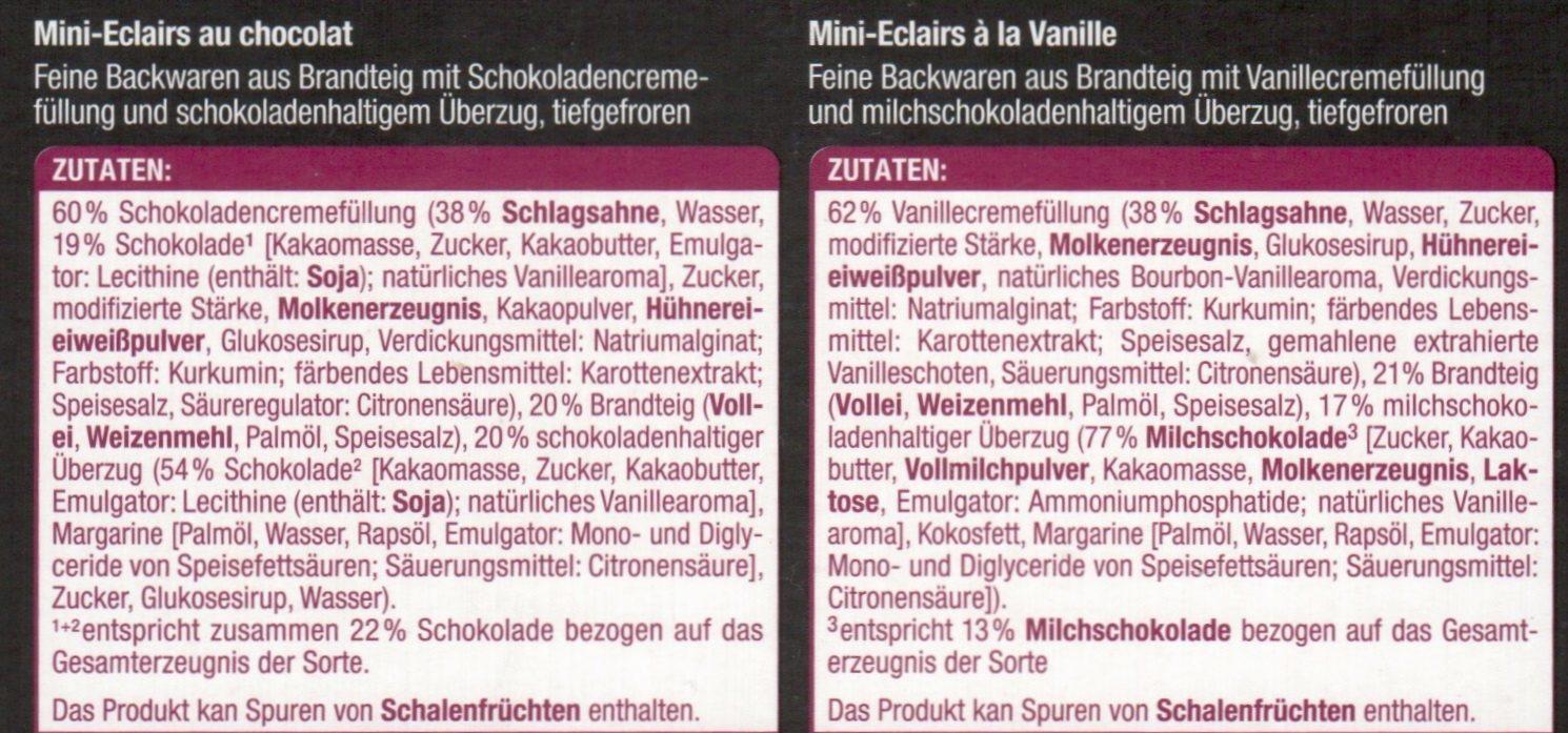 Mini Eclairs - Zutaten - de
