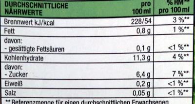 Reisdrink Natur - Nährwertangaben - de