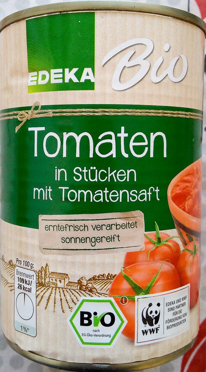 Tomaten in Stücken mit Tomatensaft - Produkt - de