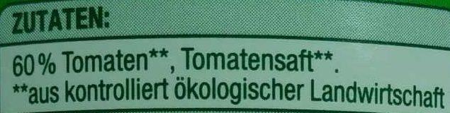 Tomaten in Stücken, in Tomatensaft - Ingredients