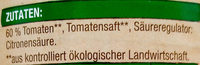 Tomaten in Stücken mit Tomatensaft - Inhaltsstoffe - de