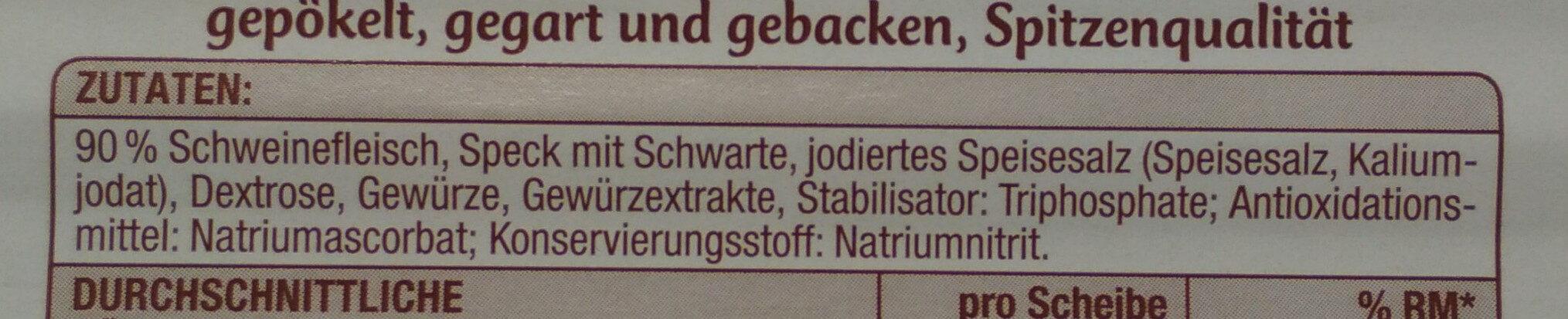 Delikatess Krustenschinken, Gepökelt Und Gegart - Zutaten - de