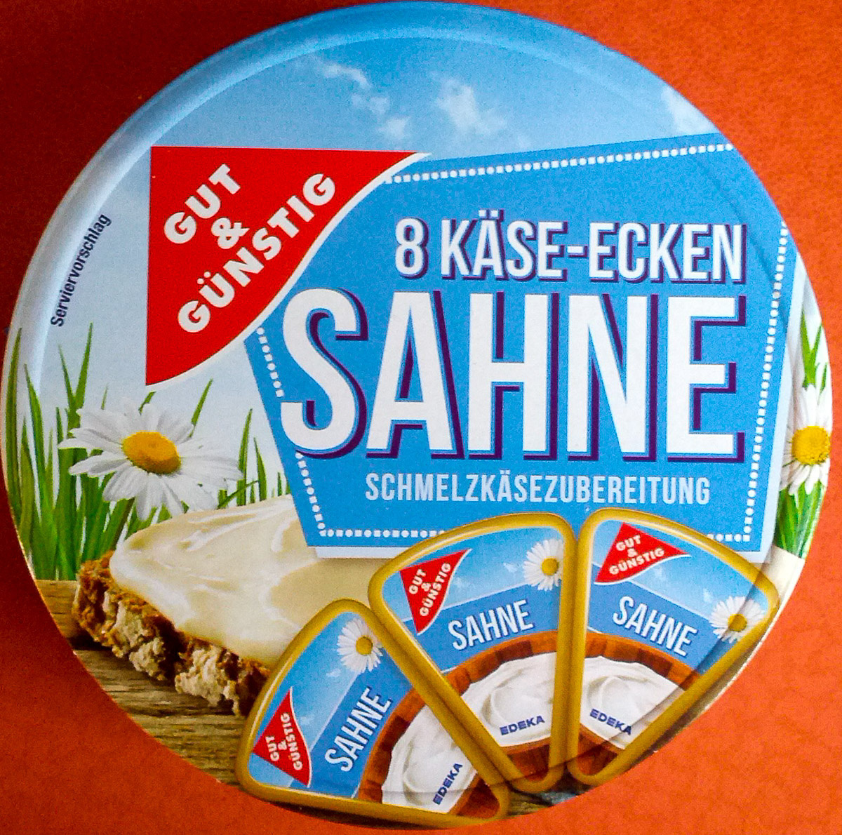 8 Käse-Ecken Sahne - Produit