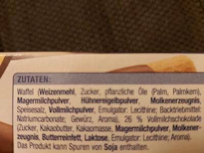 Schoko Röllchen - Ingredients - en