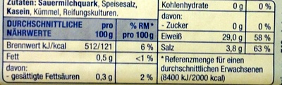 Harzer Minis nach traditioneller Art - Nutrition facts - de