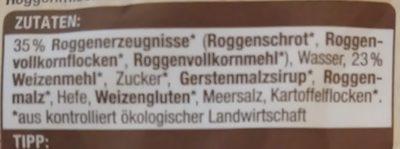 Edeka Bio Finnisch Toasties - Zutaten