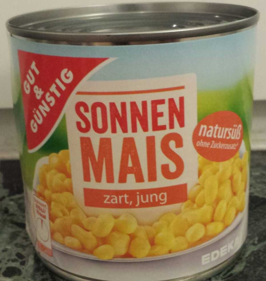 Sonnen Mais zart, jung - Produkt - de