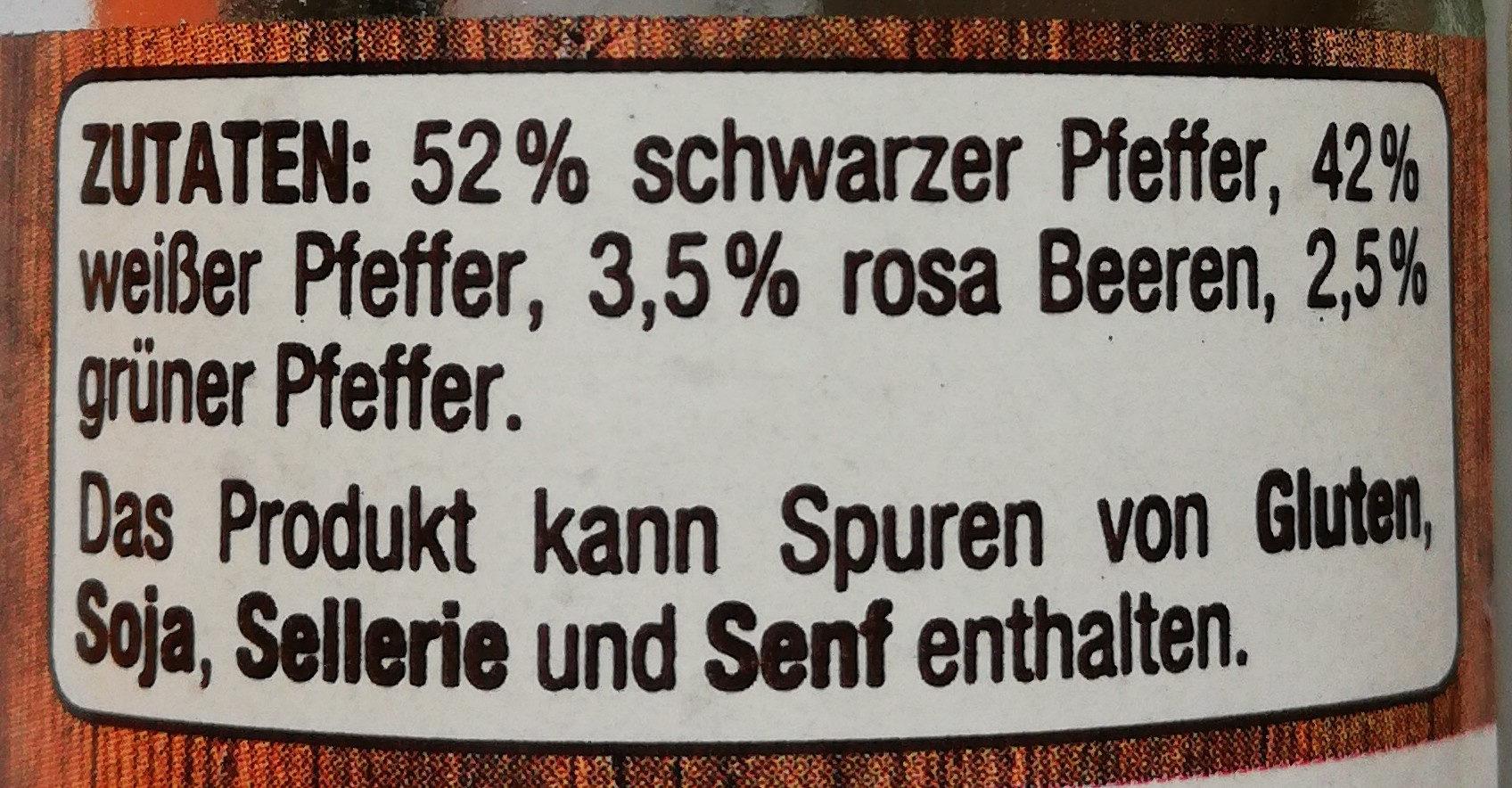 Bunter Pfeffer - Inhaltsstoffe - de