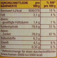 Choco Drink - Nutrition facts