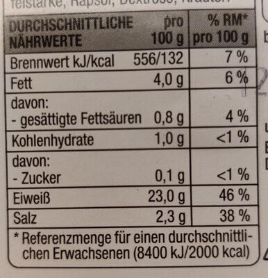 Hähnchenbrust Filetstücke Toskana - Nutrition facts