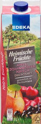 Heimische Früchte Apfel Johannisbeer Kirsch Direktsaft - Product - de