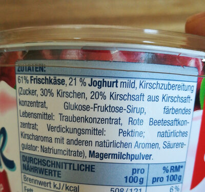 Quarkiger Genuss Kirsche - Ingredients - de