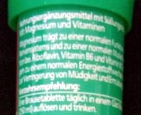 Magnesium Brausetabletten - Inhaltsstoffe