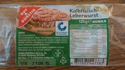 Kalbfleisch-Leberwurst - Product - de