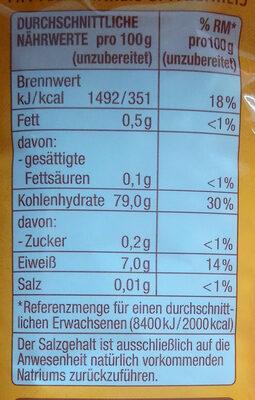 Risotto-Reis - Informations nutritionnelles - de