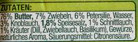 Kräuter-Butter - Ingrédients