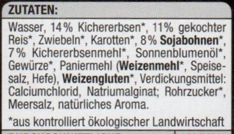 Falafel orientalisch - Inhaltsstoffe - de