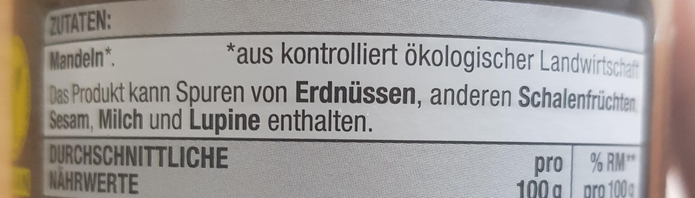 Mandelmus - Zutaten - de