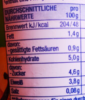 Heidelbeer Vanille Fruchtjoghurt - Informations nutritionnelles - de