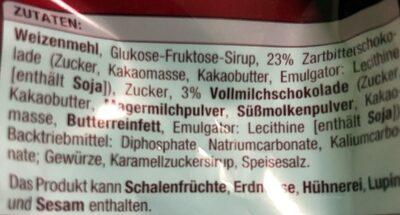 Lebkuchenherzen, Zartbitterschokolade - Ingrediënten - de